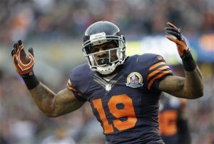 Chicago Bears special teams player Joe Anderson (19) celebrates after a tackle in the first half of an NFL football game against the Green Bay Packers in Chicago, Sunday, Dec. 16, 2012. (AP Photo/Nam Y. Huh)