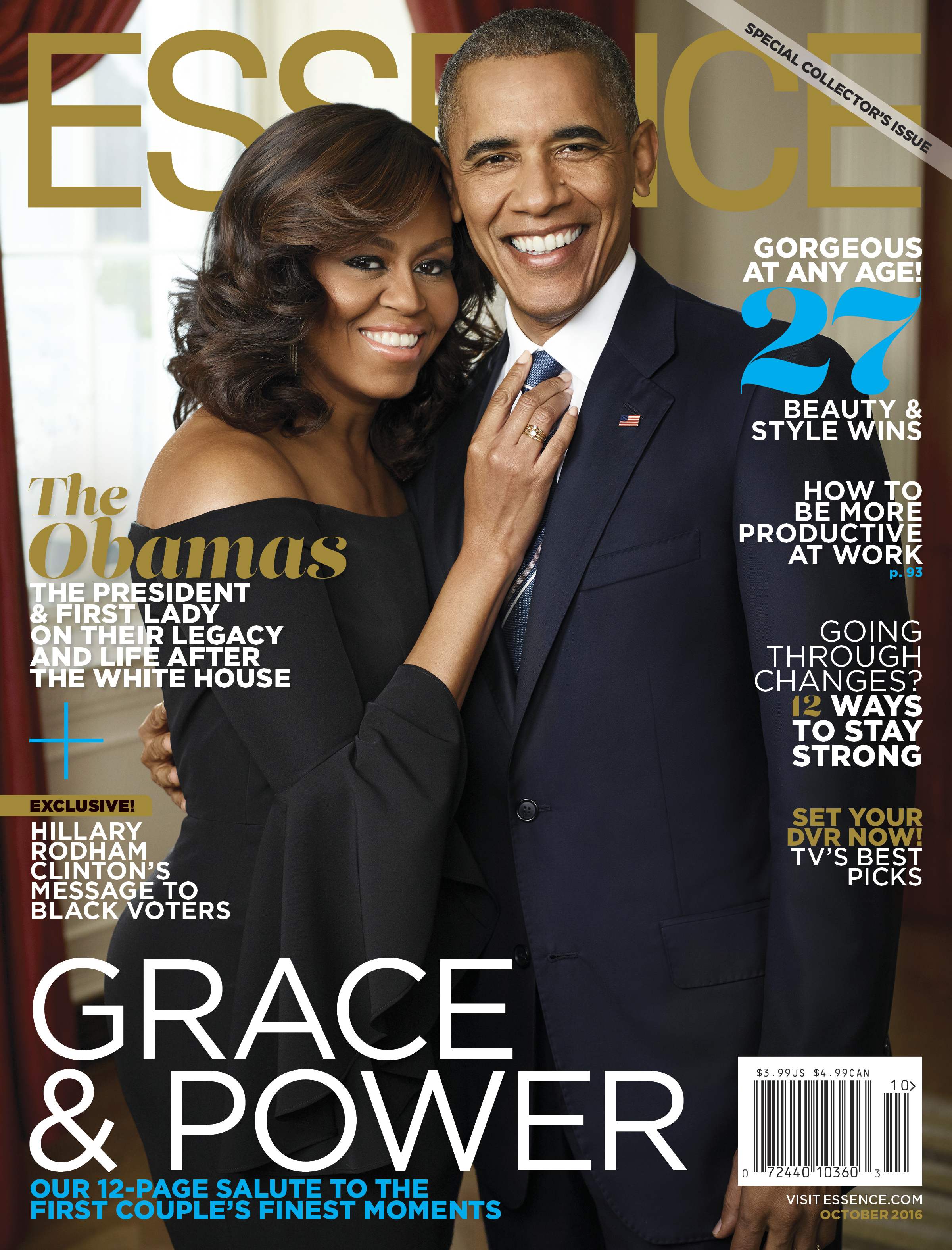 PHOTOS:  U.S President Barack Obama, First Lady Michelle storm magazine covers