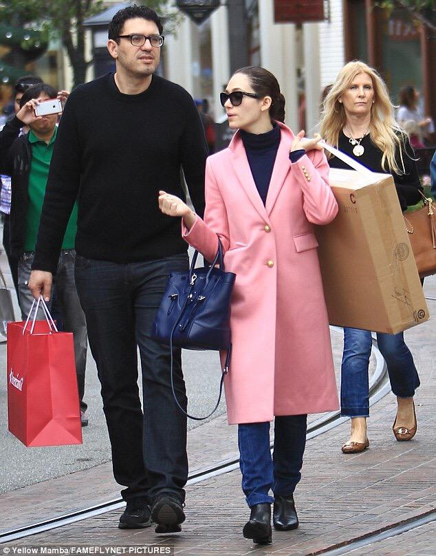 PHOTOS: Stylish Emmy Rossum shops in long pink overcoat on Black Friday