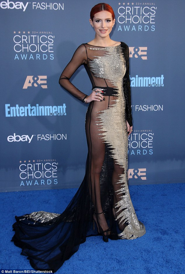 PHOTOS:  Bella Thorne hits a LOW note at the Critics Choice Awards