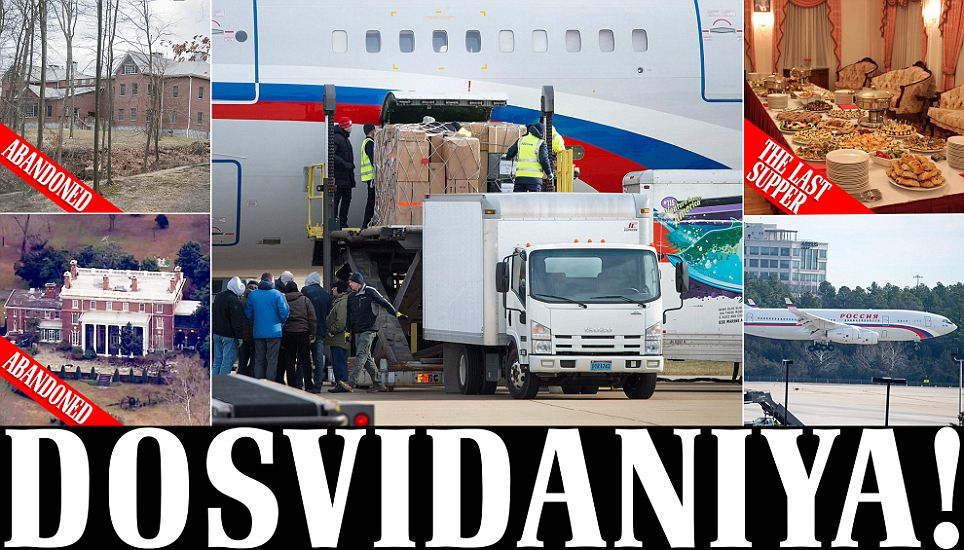 """Vladamir Putin 's """"35 spies"""" have formally been removed from America"""