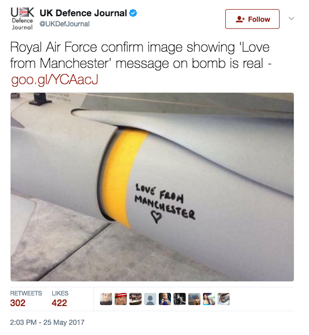 Britain stunned after message to ISIS found on Bomb: Report