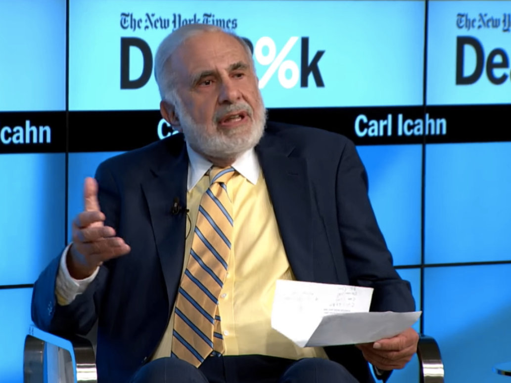 Carl ICahn just literally walked into federal criminal charges