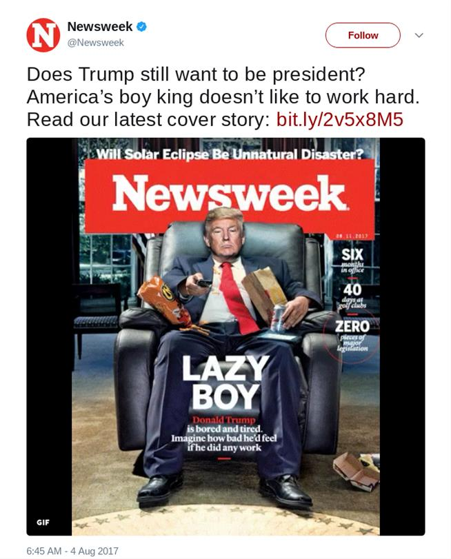 Daily Viral News Home: Newsweek 's New Cover Goes Viral, Sparks Discussion And