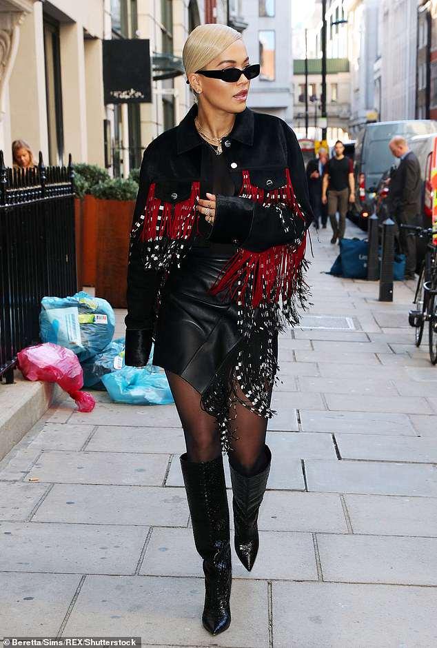 Photos:  Rita Ora puts on edgy display heading into London studio