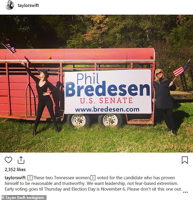Taylor Swift issues full blown support for Democratic Senate candidate