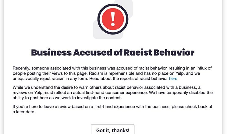 Yelp launches racist business flag, social media erupts